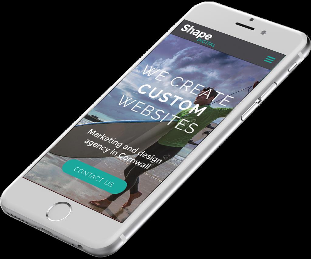 Shape Digital website design